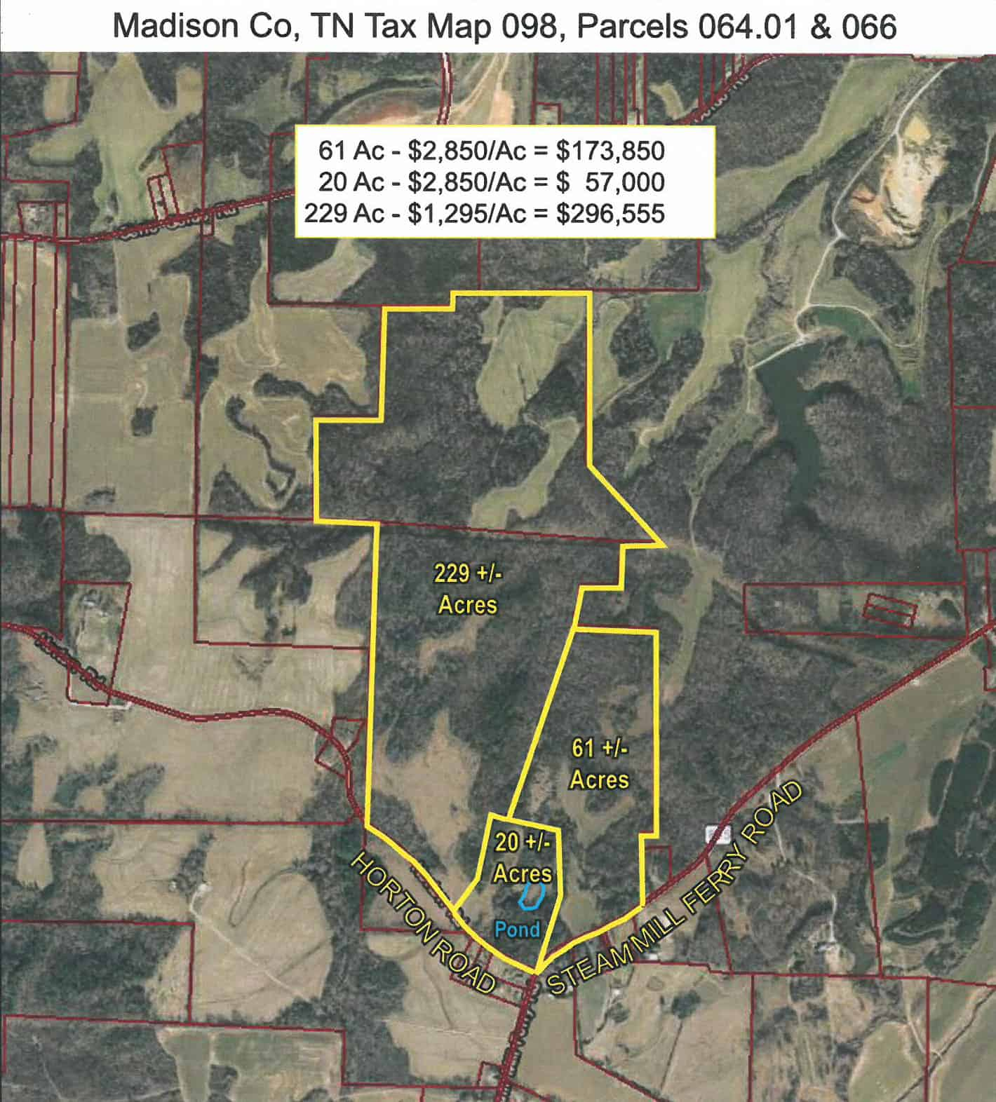 Steam Mill Ferry Road – 61+/- Acres