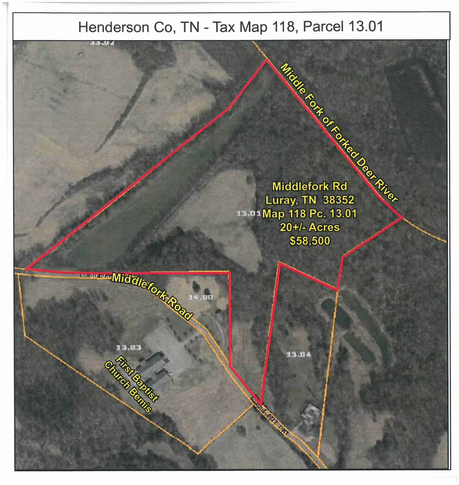20+/- Acres – Middlefork Road in Luray Tennessee