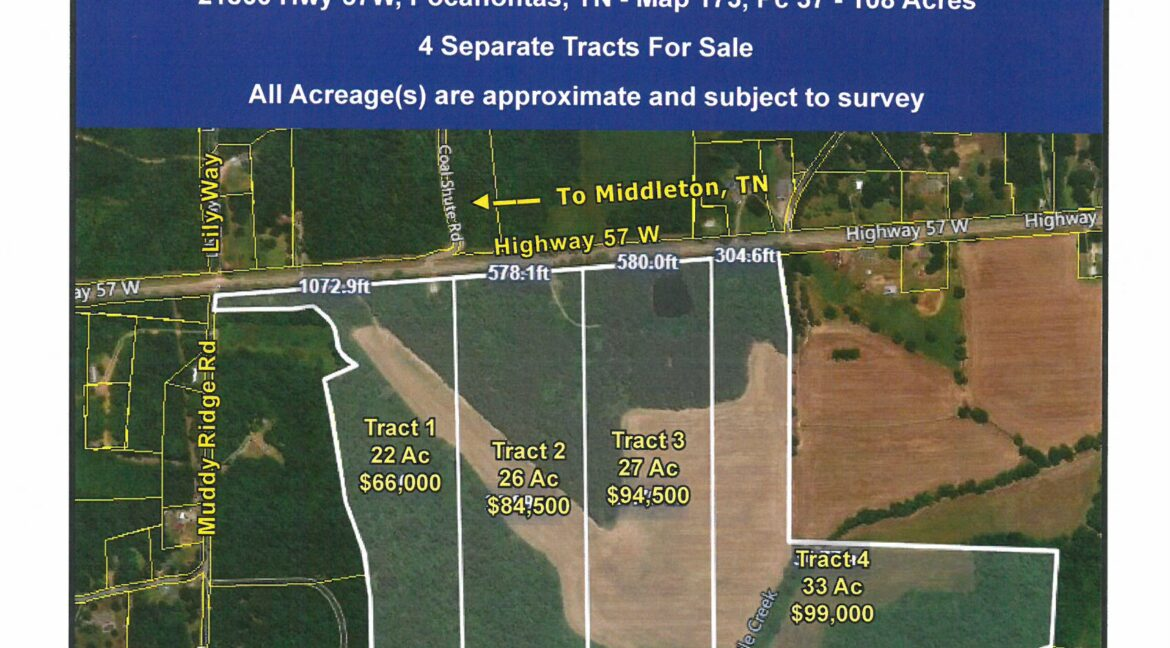 Hwy 57 W - 4 tracts Aerial